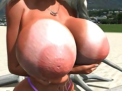 Huge breast 3D porn movie